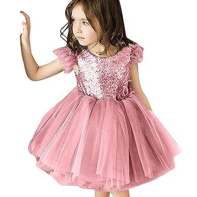 471a01721d8ab Coloré(TM Robe Fille Mode Vetement Bebe Fille Hiver Robe de soirée Fille  Robe Princesse