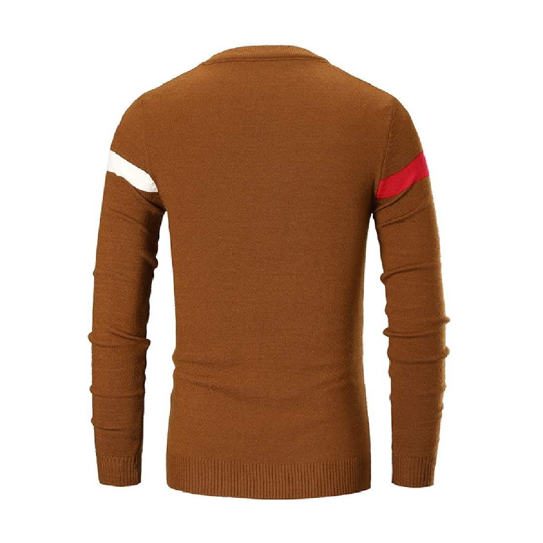Comaba Mens Striped Comfort Slim Fit Crew-Neck Stretch Sweater Pullover