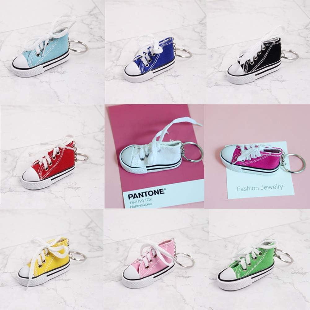 Gcroet Sneaker Chaussure Porte-Cl/és Sneaker Trousseau Mini Toile Doigt Chaussures Porte-Cl/és Moto V/élo Support de Pied D/écor Moto B/équille Pad Couleur Al/éatoire