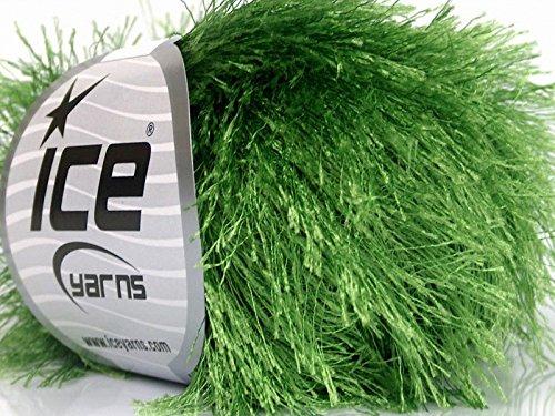 Green Eyelash Yarn, 50 Gram