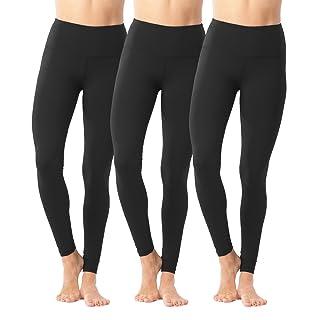 90 Degree By Reflex High Waist Power Flex Legging – Tummy Control - Black 3 Pack - XS