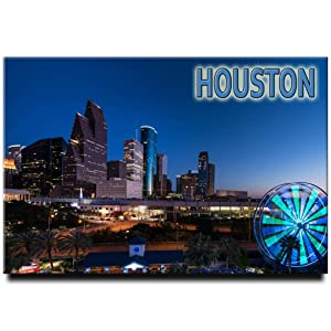 Texas Fridge Magnet Houston Travel Souvenir