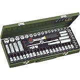Proxxon 23112 Ratsche/Steckschlüsseleinsätze / Super-Kompaktsatz mit Ratsche, Tiefbetteinsätze, Zündkerzen-Spezialeinsätze, Schraubereinsätze, 65-teilig
