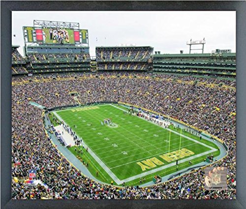 Framed Lambeau Field Green - Lambeau Field Green Bay Packers Photo (Size: 17