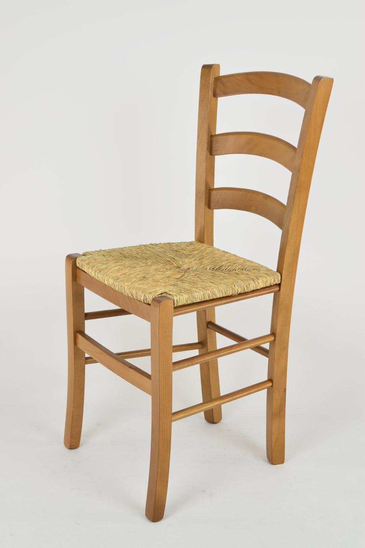 Tommychairs Colore Rovere Laccato e Seduta in Legno Struttura Robusta in Legno di faggio Set di 6 sedie Cuore 38 per Cucina e Sala da Pranzo
