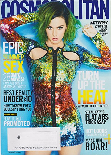 Cosmoplitan July 2014 Katy Perry is on Fire