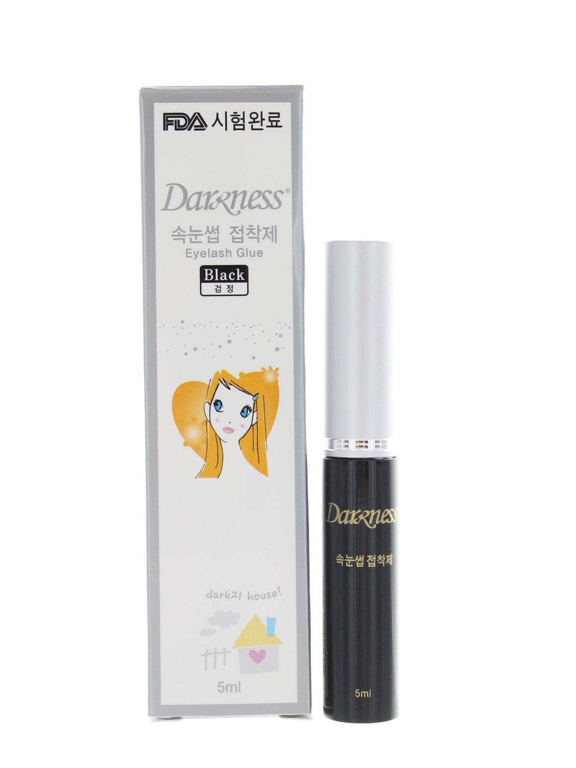 Amazon Darkness Double Eyelash Glue Black Fake Eyelashes