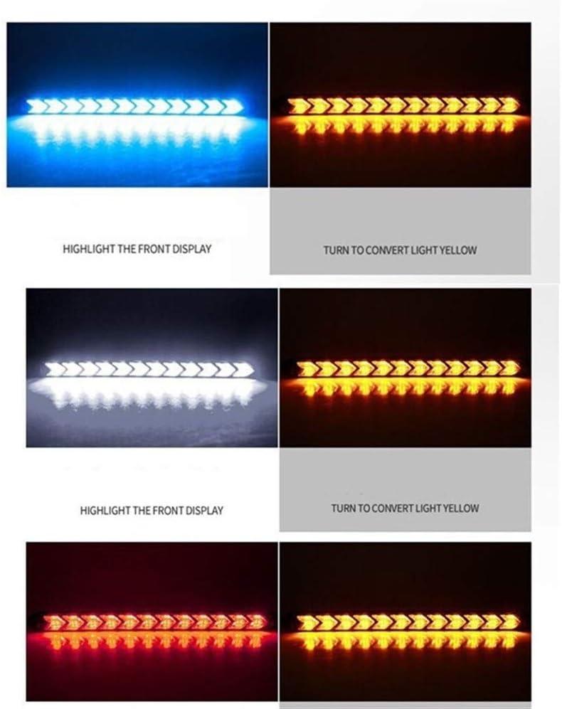 Rear Brake Lights Tail Light Lamp 2Pcs LED DRL Turn Signal Warning Steering Fog Day Lamp Daytime Running Light Car Styling Dynamic Streamer Flow Amber LED Rear Tail Stop Light Indicator Lamp