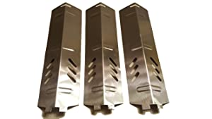 Set of Three Stainless Steel Heat Plates for Gas Grill Model Backyard Grill BY13-101-001-11 and other backyard grill models