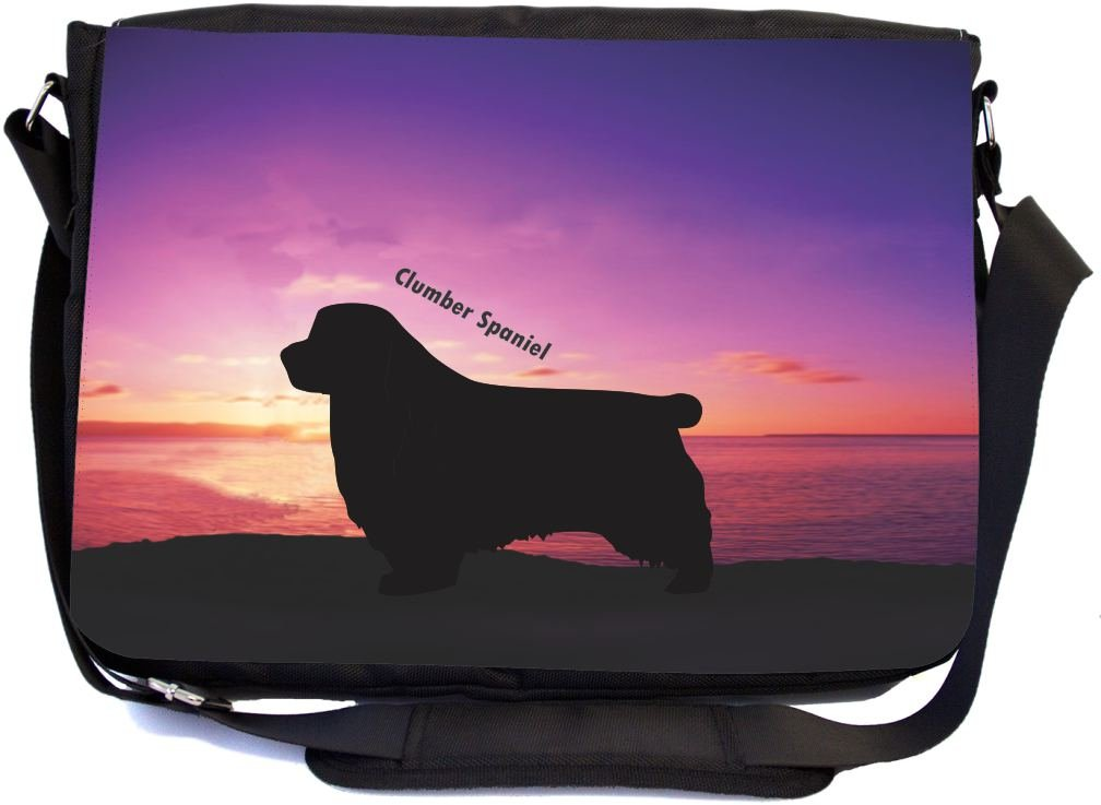 53bef2f38b94 free shipping Rikki Knight Clumber Spaniel Dog At Sunset Design ...