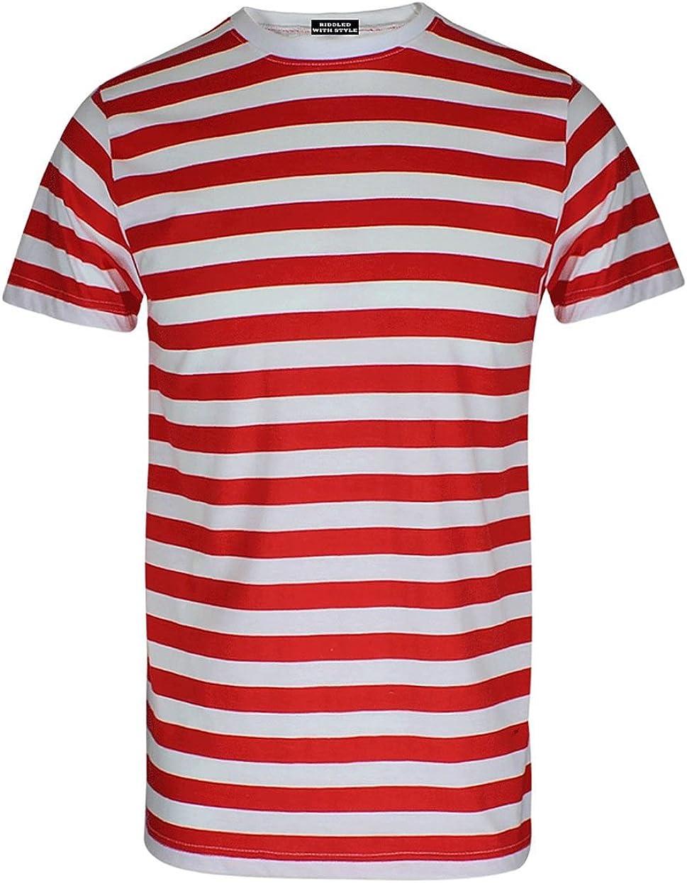Camiseta para niños, diseño de rayas rojas y blancas, para la semana - Rojo - 14 años: Amazon.es: Ropa y accesorios