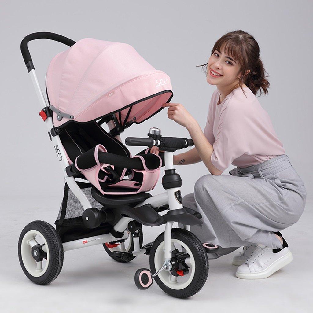HAIZHEN 信託 マウンテンバイク 子供の三輪車座って 上質 乗馬の赤ちゃんカートは 天井非膨張性のチタンの空の車の自転車を調整する B07DL7X267 新生児 5