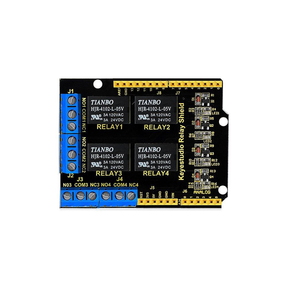 KEYESTUDIO 4 Channel Relay Shield 5V for Arduino KS0251