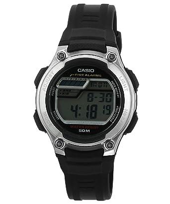 CASIO 19222 W-212H-1AV - Reloj Infantil Unisex Correa Caucho Negra: Casio: Amazon.es: Relojes