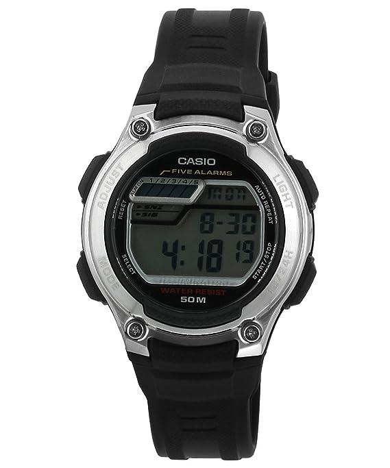 CASIO 19222 W-212H-1AV - Reloj Infantil Unisex Correa Caucho Negra