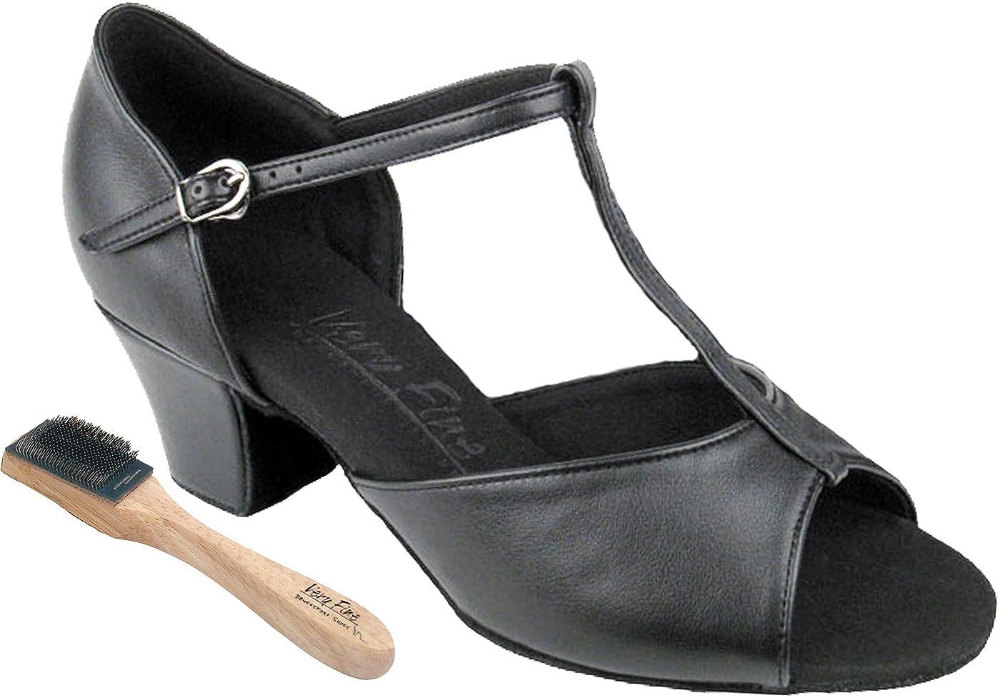 [Very Fine Shoes] レディース ブラックレザー 9 (B,M) US