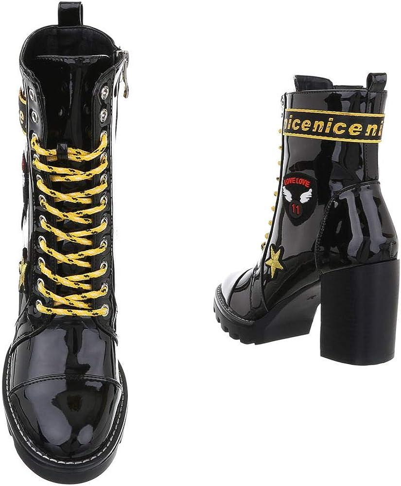 Ital-Design - Botines de tacón alto para mujer Negro Ksl161 O974g