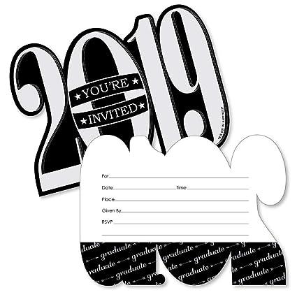 Graduación Cheers Con Forma De 2018 Llenar Invitaciones