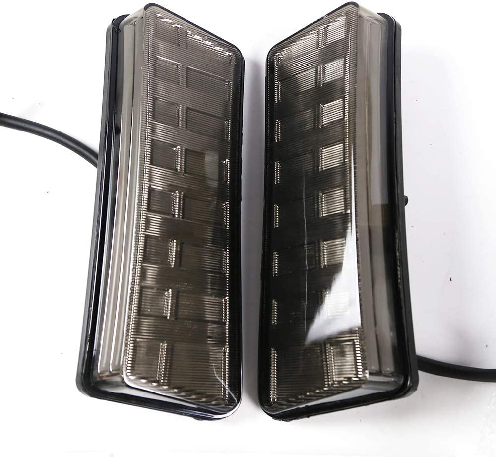 2003-2005 Nissan 350Z Fairlady Z SMDx 7 LED Daytime Running Light Side Marker Reflector Bumper Lights Smoke