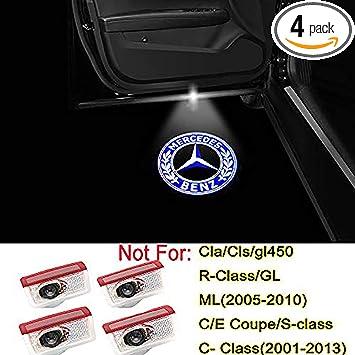 Home Ledlight Benz Led Door Logo Light Car Door LED Logo Emblem Ghost Shadow Light for Mercedes-Benz C Class