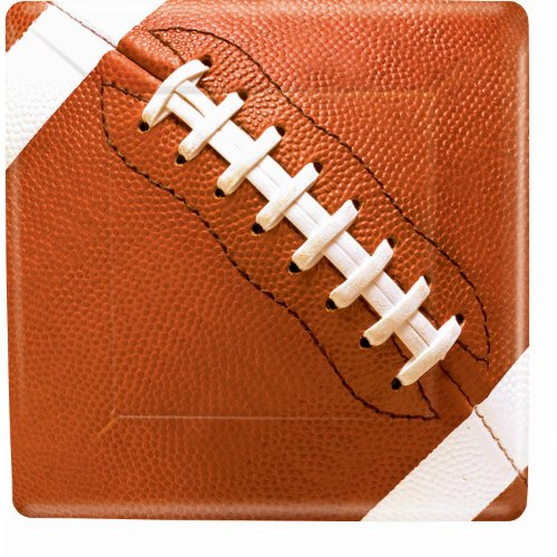 [Amscan Football Fan Birthday Party Square Dinner Plates (8 Piece), Brown, 10.3 x 10.3