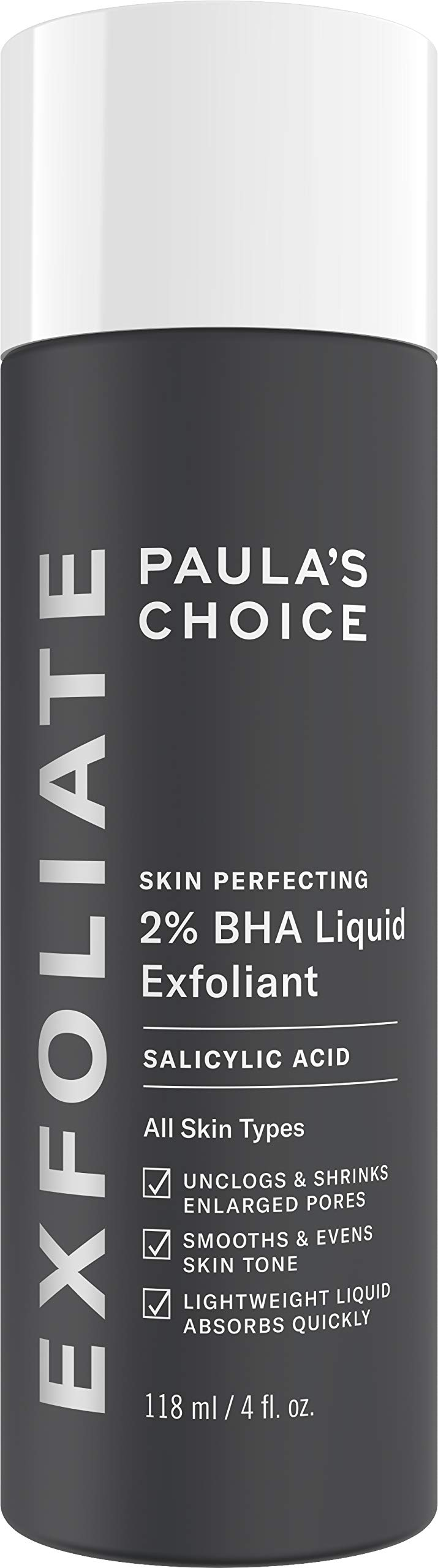 Paulas Choice--SKIN PERFECTING 2% BHA Liquid Salicylic Acid Exfoliant--Facial Exfoliant for Blackheads, Enlarged Pores, Wrinkles & Fine Lines, 4 oz Bottle by Paula's Choice
