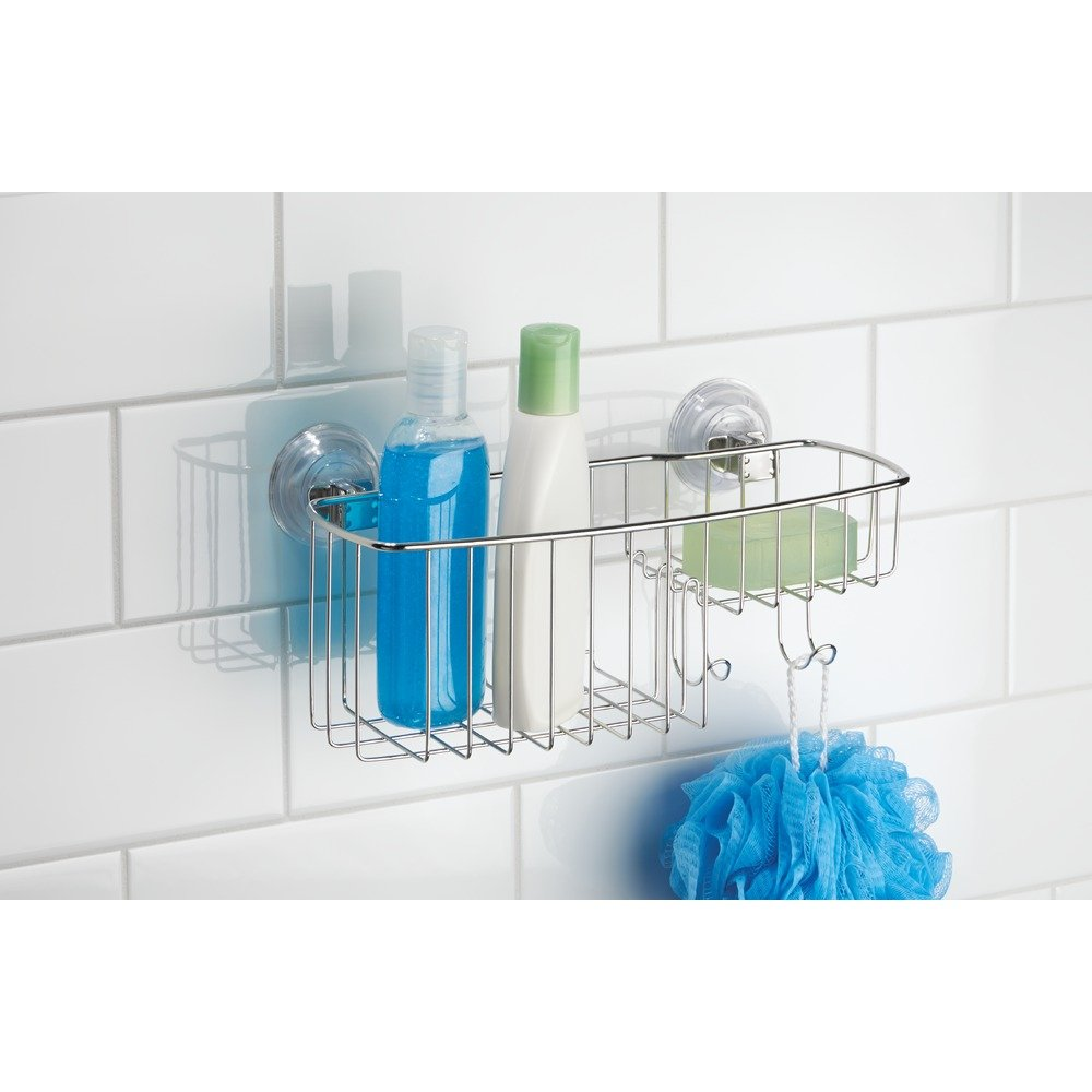 Amazon.com: InterDesign Reo Power Lock Suction Bathroom Shower Combo ...