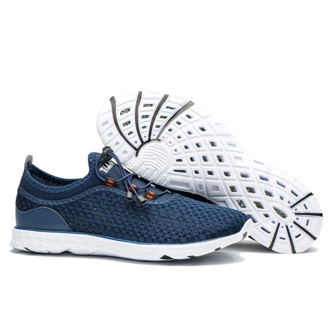 TIANYUQI Men's Mesh Slip On Water Shoes by TIANYUQI (Image #6)