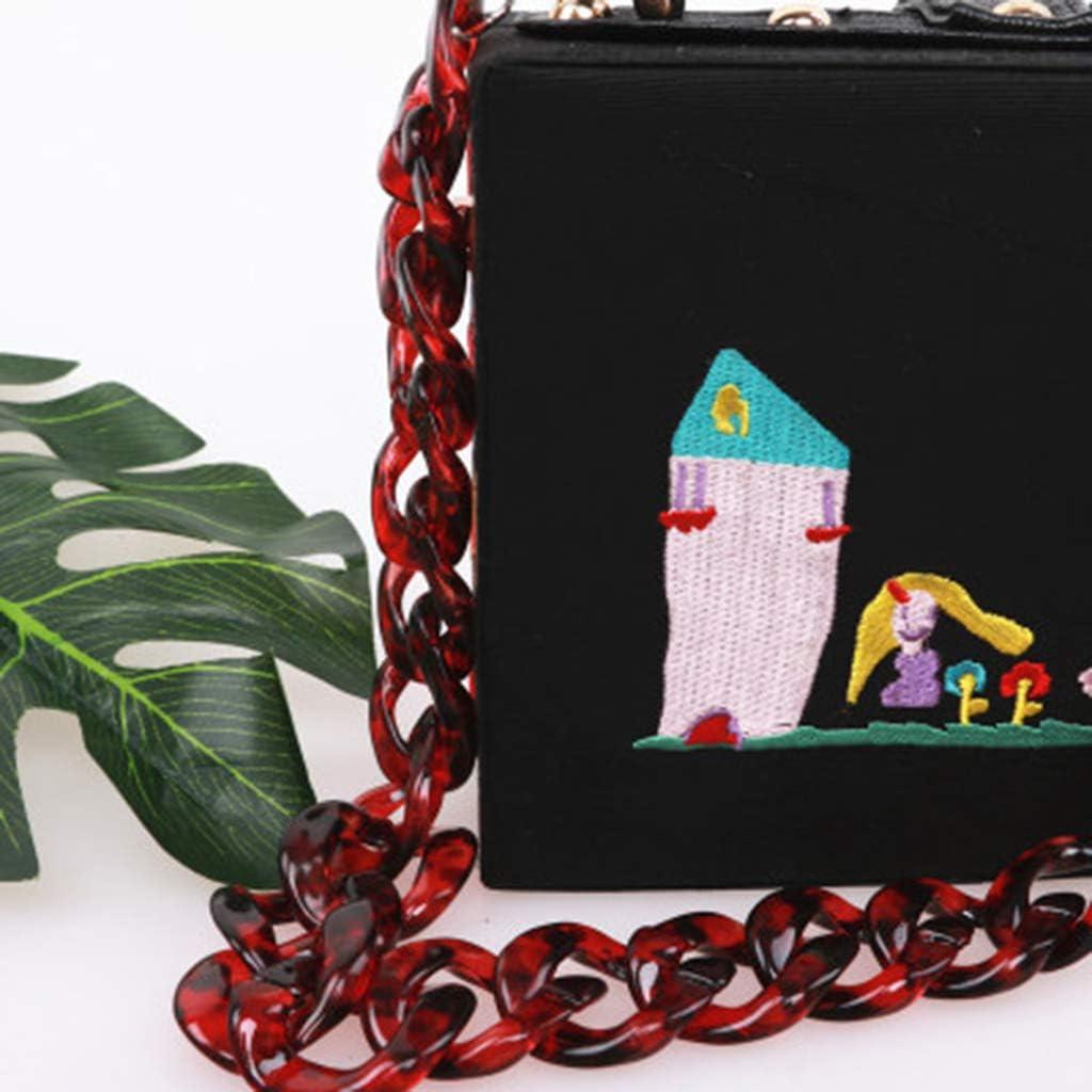 SimpleLife DIY Acr/ílico Bolso Correa Bolso Transparente Cadena Reemplazo Correa de Cadena Conjunto con Hebillas para Bolso Bolso Bandolera