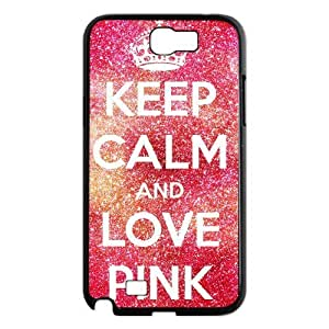 case Of Love Pink Customized Bumper Plastic Hard Case For Samsung Galaxy Note 2 N7100