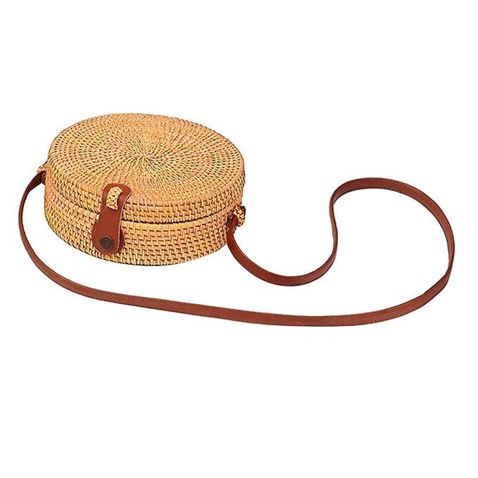 Moda redonda bolsa de paja bolsos de las mujeres bolso de ...
