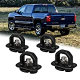 bordan Chevy Anchor Truck Bed 4Pcs Set Tie Downs Anchor Fits 07-18 GMC Sierra Cargo, 15-18 Chevy Colorado and GMC Canyon Model Truck Bed Side Wall Anchors