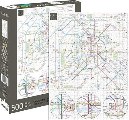 Aquarius Puzzles Subway Map.Amazon Com Aquarius Paris Metro 500 Piece Jigsaw Puzzle Aquarius