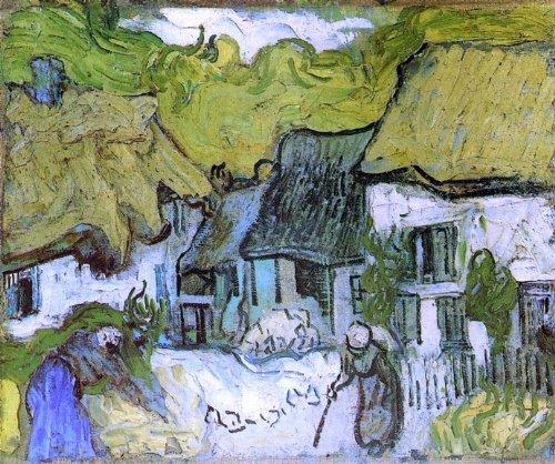 Vincent Van Gogh Thatched Cottages in Jorgus - 20.05
