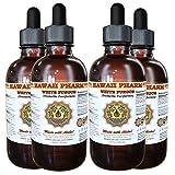 White Fungus Liquid Extract, White Fungus (Tremella Fuciformis) Mushroom Tincture, Herbal Supplement, Hawaii Pharm, Made in USA, 4x4 fl.oz