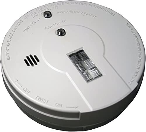Kidde – 21026052 Battery Operated Smoke Detector Alarm with Safety Light Model i9080,White