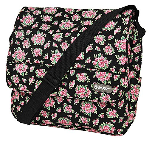 Uk tec Womens Hi black Size Bag roses Courier 1609 Ht Assorted 1 Floral Ydqrq4