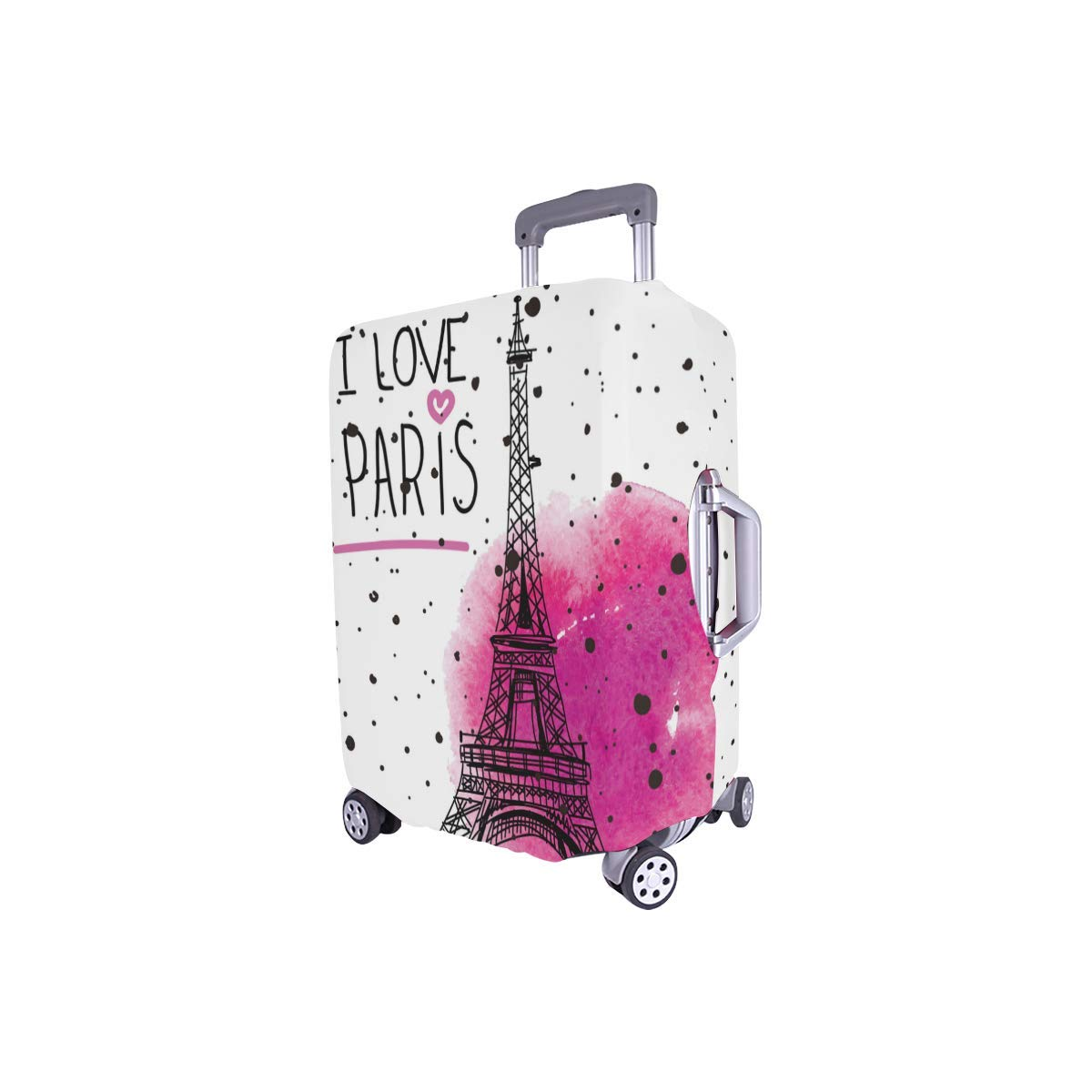 InterestPrint I Love Paris Eiffel Tower Travel Luggage Case Baggage Suitcase Cover Fits 18''-21'' Luggage by InterestPrint (Image #3)