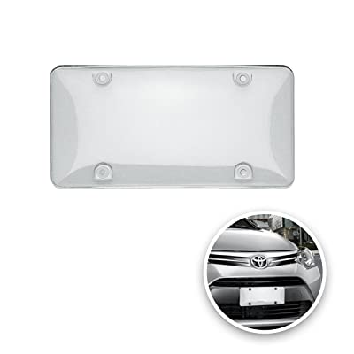 VaygWay Car License Plate Cover- Clear License Shield 2 Cover-Fits All Standard US Plates- Front and Back Novelty License Plates: Automotive