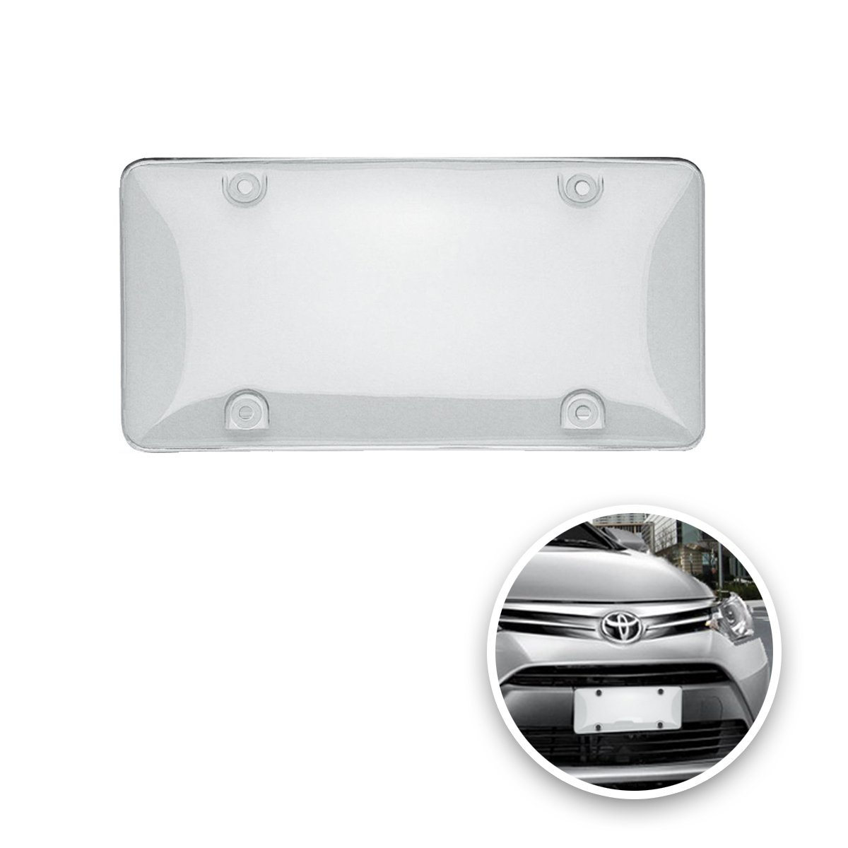 Clear License Shield 2 Cover-Fits All Standard US Plates Front and Back Novelty License Plates Custom Autos Vaygway Car License Plate Cover