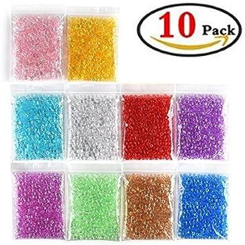 Perlas de Pecera para crujientes Slime, 10 unidades plástico hermoso color jarrón para cuentas para