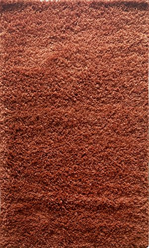 - Adgo Chester Shaggy Collection Moroccan Trellis High Soft Pile Carpet Children Bedroom Living Dining Room Shag Floor Rug (6' x 7', S18 - Copper)