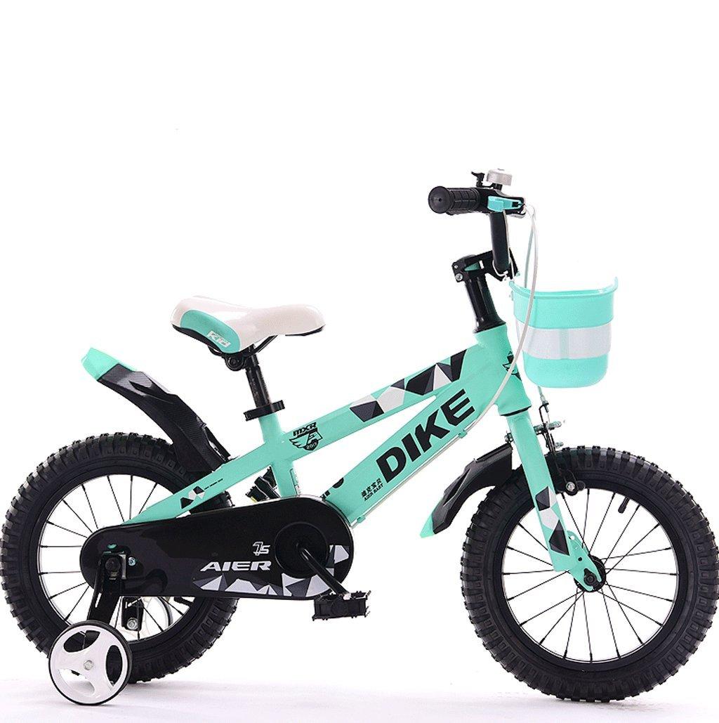 子供用自転車12/14/16/18インチ212歳の男の子と女の子用自転車三輪車 (色 : 緑, サイズ さいず : 16 inches) B07D7V2SXY 16 inches|緑 緑 16 inches