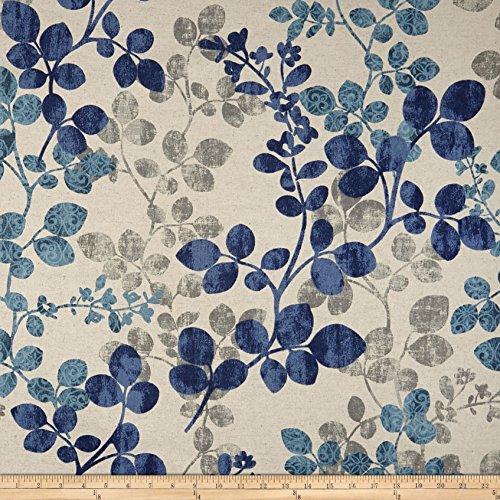 Richloom Fabrics 0589153 Richloom Cabrera Linen Denim Fabric by The Yard ()