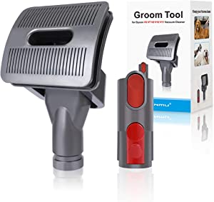 LANMU Groom Tool for Dyson Vacuum,Dog Pet Grooming Brush Attachment Compatible with Dyson V11 V10 V8 V7 V6 Vacuum Cleaner with Quick Release Converter Adapter