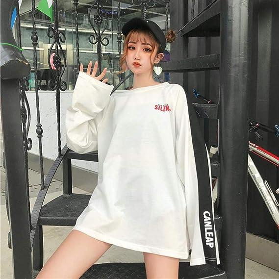 Autumn Harajuku Style Splicing Color Women Thin Sweatshirt Pullovers Loose Tops