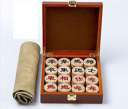 YF Juego De Ajedrez Caja De Madera Maciza Caja De Madera Ajedrez Chino Tablero De Ajedrez Plegable: Amazon.es: Juguetes y juegos