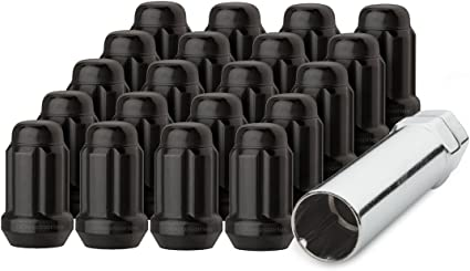 DPAccessories LCE3L5HCSCH04020 20 Chrome 12x1.25 Closed End ET Spline Tuner Lug Nuts for Aftermarket Wheels Wheel Lug Nut