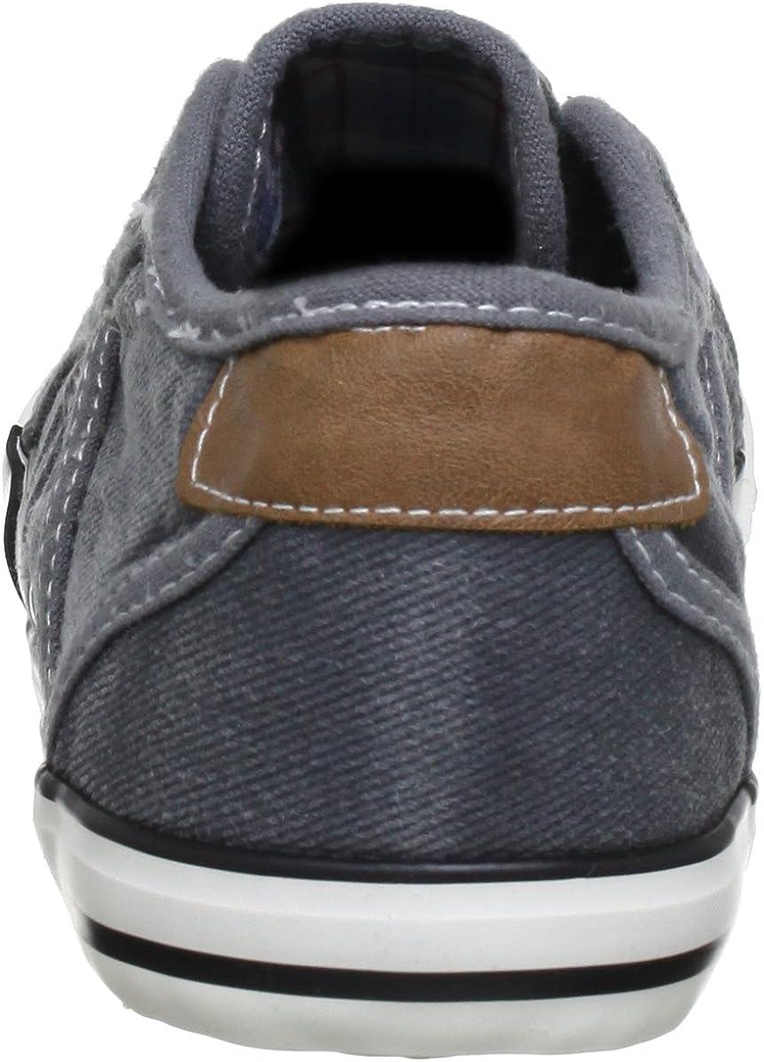 Mustang 1099-302-55, Chaussons Sneaker Femme Gris 2 Grau