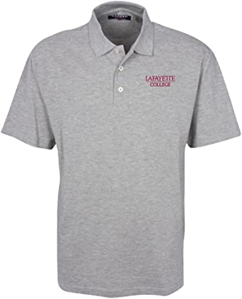 Oxford NCAA Mens Mens 3 Button Polo with Hemmed Sleeves